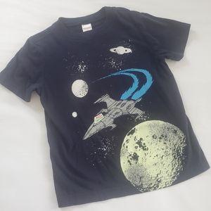 3/$25 Gymboree glow in dark space tee shirt